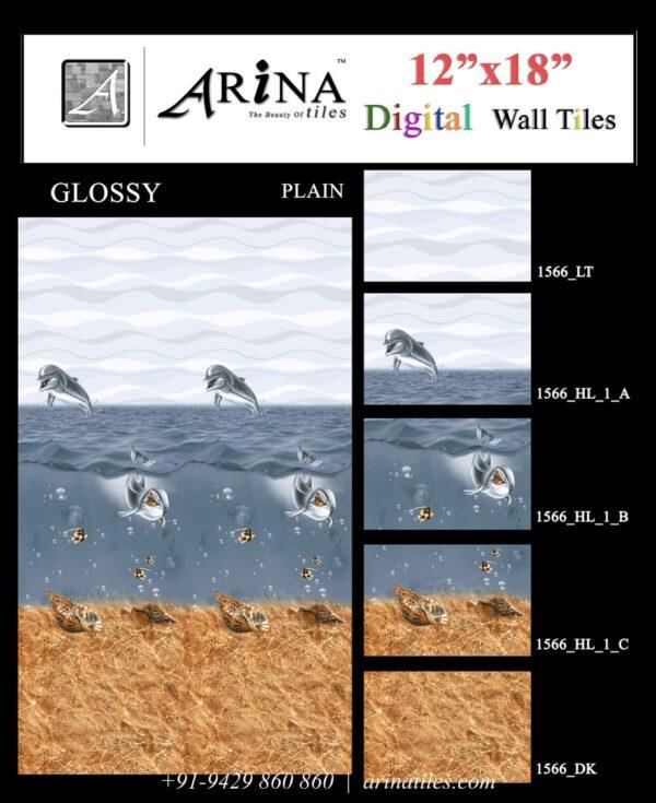 1566 - 12x18 Bathroom Wall Tiles-min