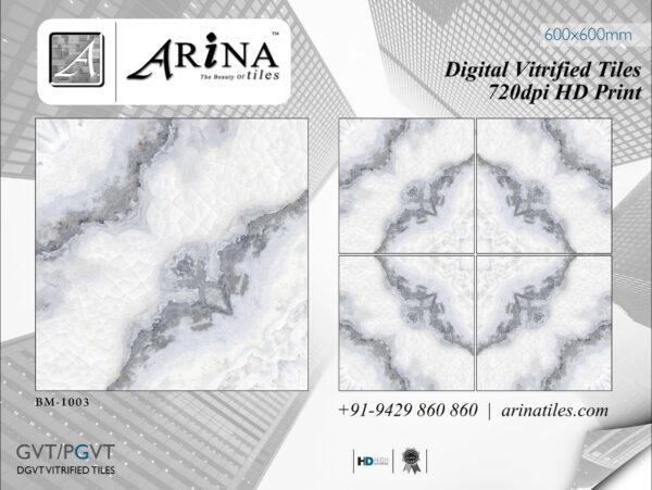 24x24 Digital Vitrified Tiles - Bookmatch Series (10)