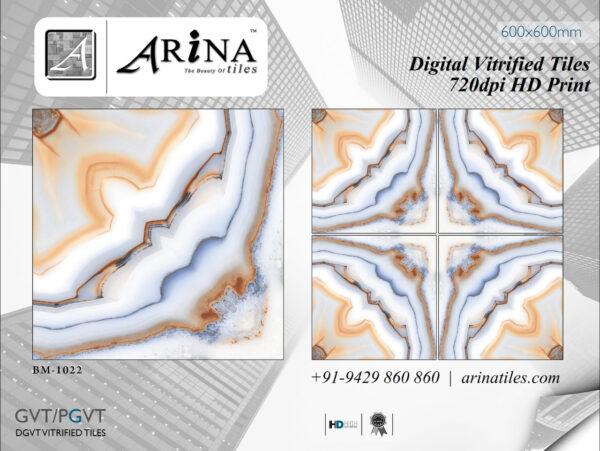 24x24 Digital Vitrified Tiles - Bookmatch Series (18)