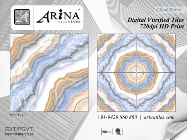 24x24 Digital Vitrified Tiles - Bookmatch Series (19)