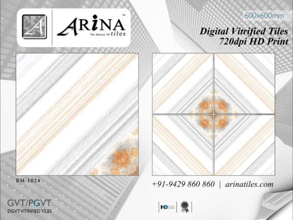 24x24 Digital Vitrified Tiles - Bookmatch Series (20)
