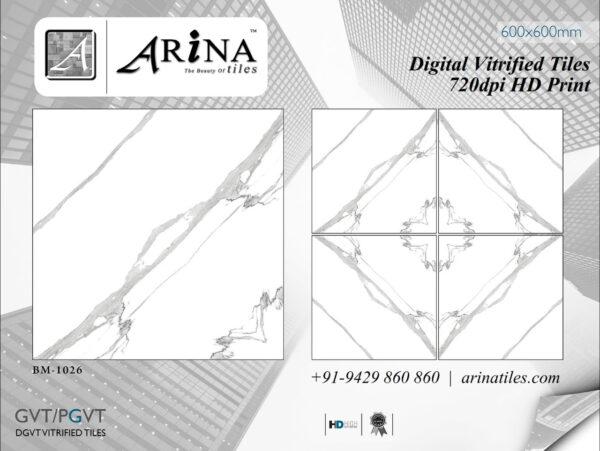24x24 Digital Vitrified Tiles - Bookmatch Series (27)