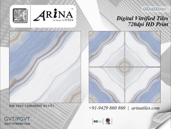 24x24 Digital Vitrified Tiles - Bookmatch Series (36)