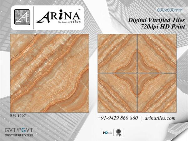 24x24 Digital Vitrified Tiles - Bookmatch Series (4)