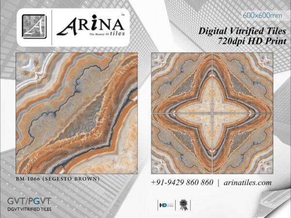 24x24 Digital Vitrified Tiles - Bookmatch Series (42)