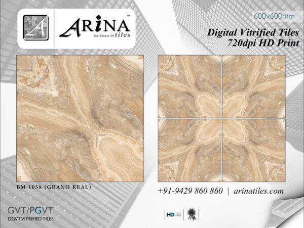 24x24 Digital Vitrified Tiles - Bookmatch Series (48)