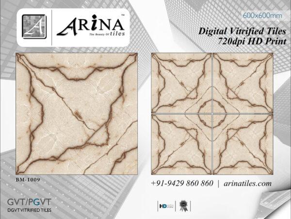 24x24 Digital Vitrified Tiles - Bookmatch Series (5)