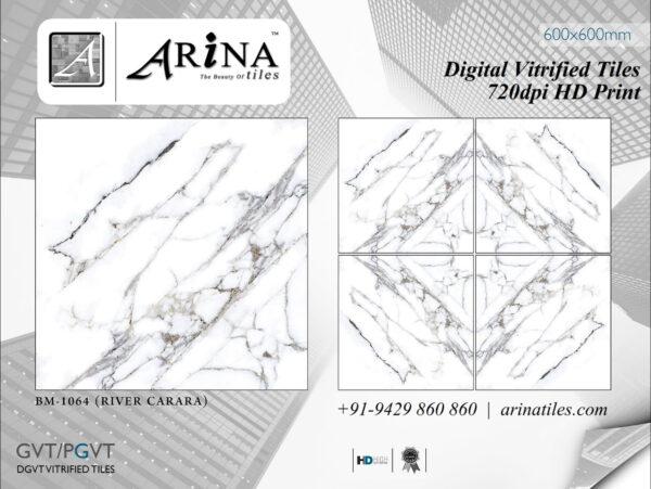 24x24 Digital Vitrified Tiles - Bookmatch Series (51)