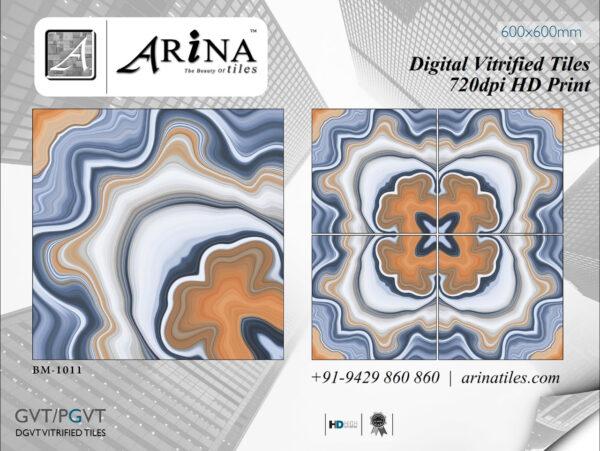 24x24 Digital Vitrified Tiles - Bookmatch Series (6)
