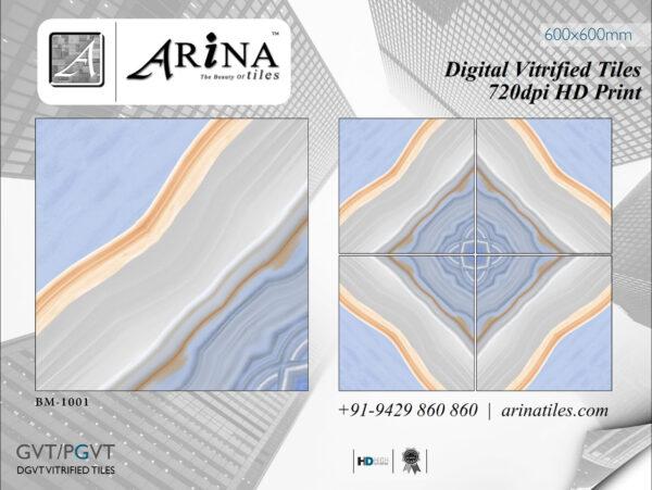 24x24 Digital Vitrified Tiles - Bookmatch Series (8)