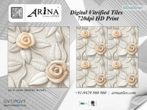 3d Z 1059 (Royal Rose) - 24X24 Digital Vitrified tiles by ARiNA Tiles