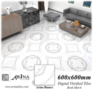 Arina Bianco -24x24 Digital Vitrified Tiles