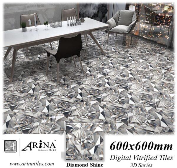 Diamond Shine - 24x24 Digital Vitrified Tiles