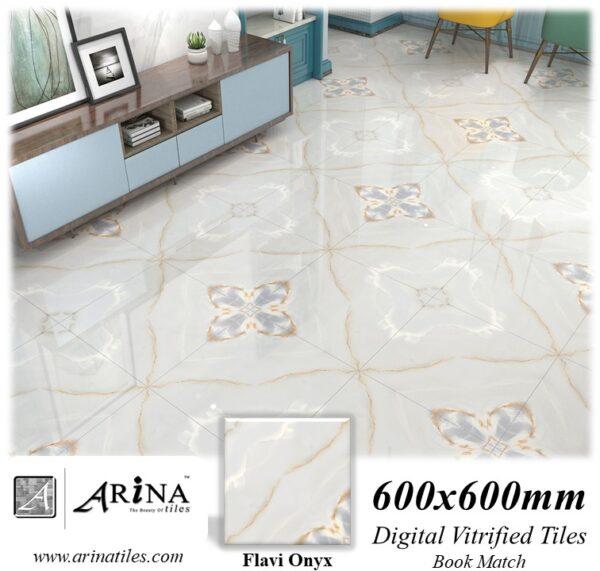 Flavi Onyx - 24x24 Digital Vitrified Tiles