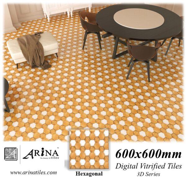 Hexagonal - 24x24 Digital Vitrified Tiles