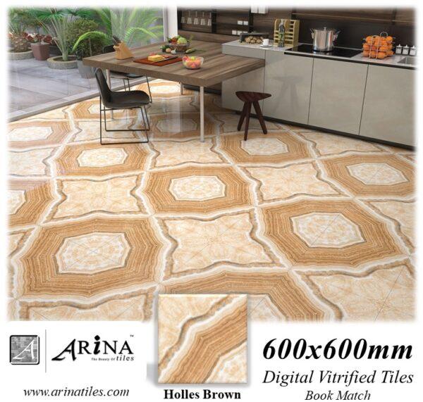 Holles Brown - 24x24 Digital Vitrified Tiles