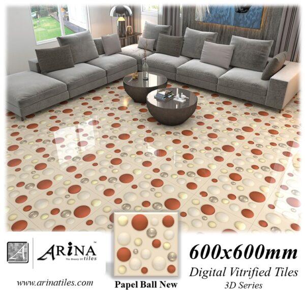 Papel Ball New - 24x24 Digital Vitrified Tiles