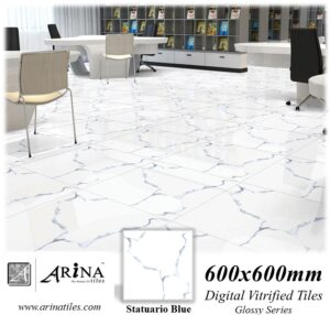 Statuario Blue - 24x24 Digital Vitrified Tiles