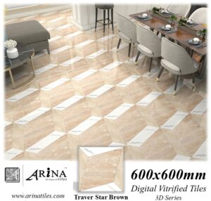 Traver Star Brown - 24x24 Digital Vitrified Tiles
