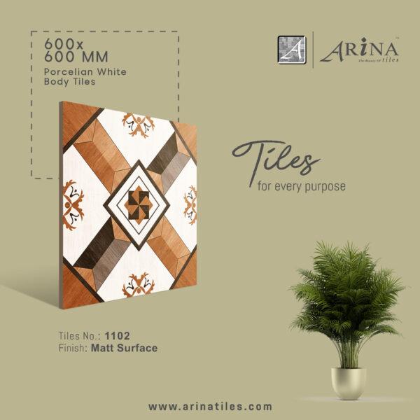 P1102- 24x24 Porcelain Floor Tiles